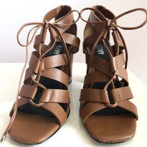 RENVY Chunky Lace-up Leather Sandal- Size 7.5